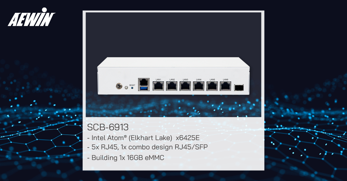 SCB-6913 Fanless Intel Atom (Elkhart lake) x6425E